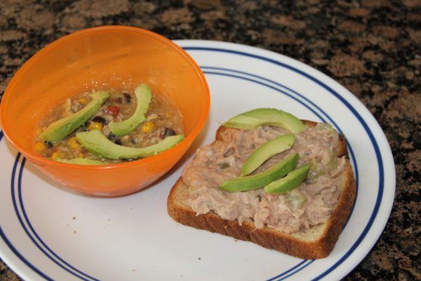 open-faced-tunafish-sandwich-and-soup