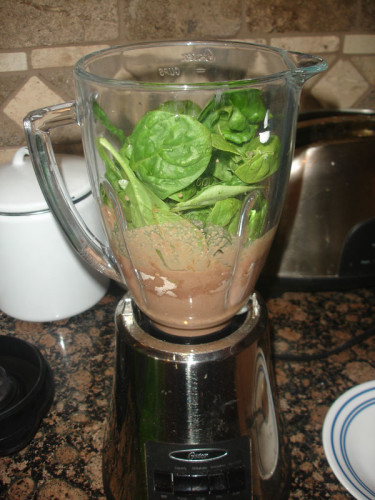 Almond-Joy-Protein-Shake-with-Spinach