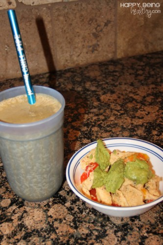 Chicken-avocado-and-protein-shake