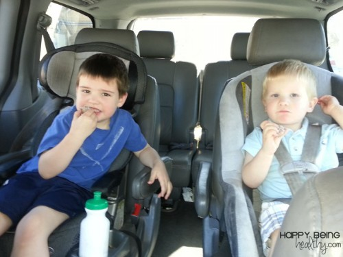 Kids-eating-protein-balls-in-van