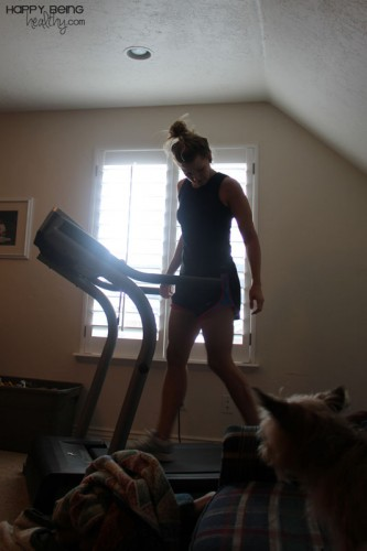 Scary Pic of Me on the Treadmill