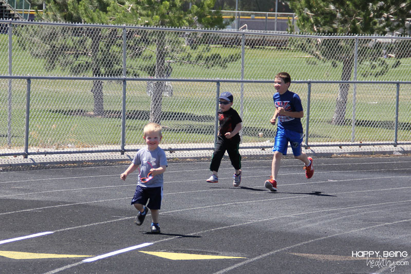 A Fun Day at the Track with the Kids! | Happy Being Healthy