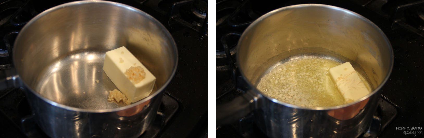 Melting butter for alfredo sauce