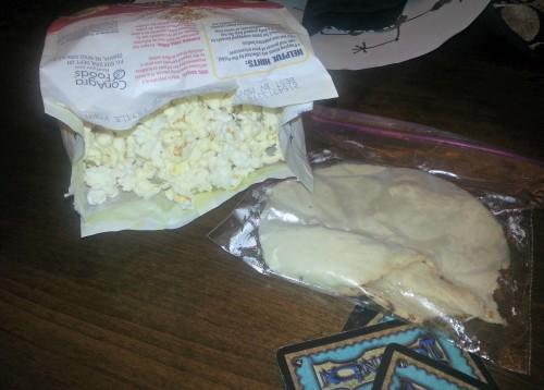 Turkey and popcorn