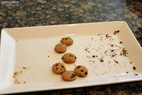 The cookies left after the Coogies Tastetest
