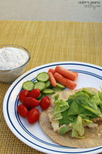 My Egg Salad wrap and veggies with yogurt dip for lunch