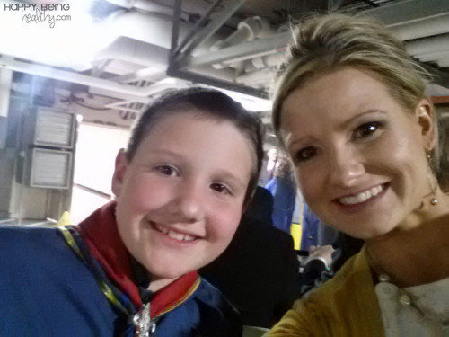 My Cub Scout son and I after his Scout Program