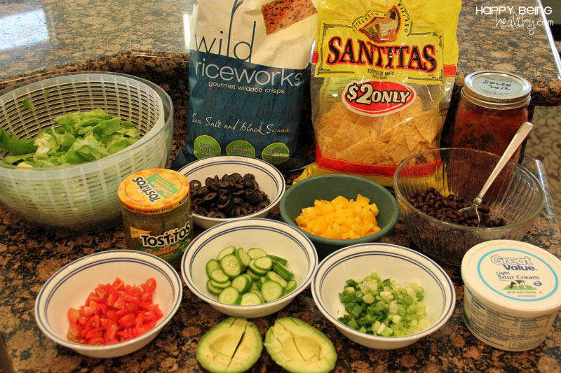A Whole Bunch Of Things Ready To Make Nachos!