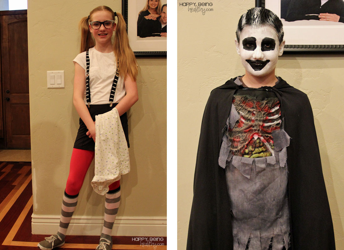 Kids dressed up for Halloween as a nerd and a scary guy  sc 1 st  Happy Being Healthy & Five AMAZING Bargain Beauty Products | Happy Being Healthy