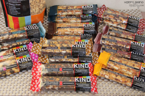 A whole bunch of KIND bars