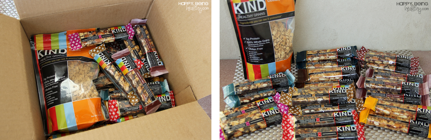 Package full of KIND bars and granola