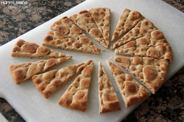 Cut Pita Bread for chips