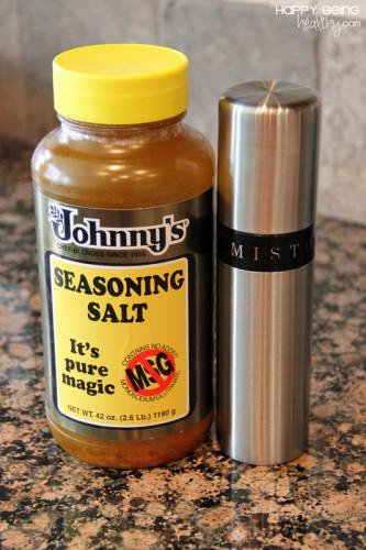 Seasoned Salt and olive oil for pita chips