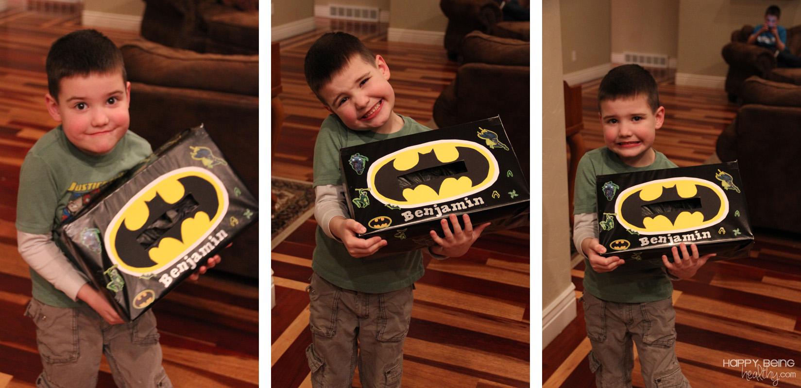 Benny With His Batman Valentine Box