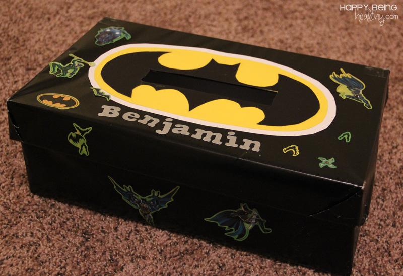 Batman Valentine Box | Happy Being Healthy