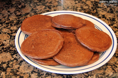 Batch of Chocolate Protein Pancakes
