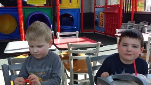 Cute boys at Carls Jr