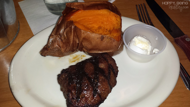 Steak and Sweet Potato from Texas Roadhouse