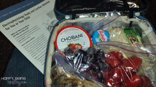 Healthy snacks at the hospital