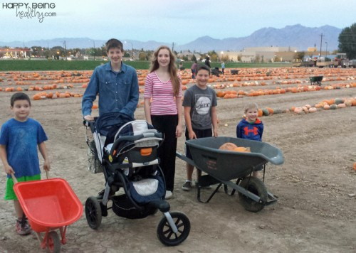 Pumpkin Patch with the kids