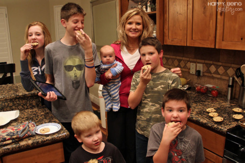 Me and the kids with cookies