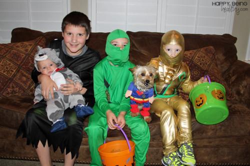 The kiddos on Halloween