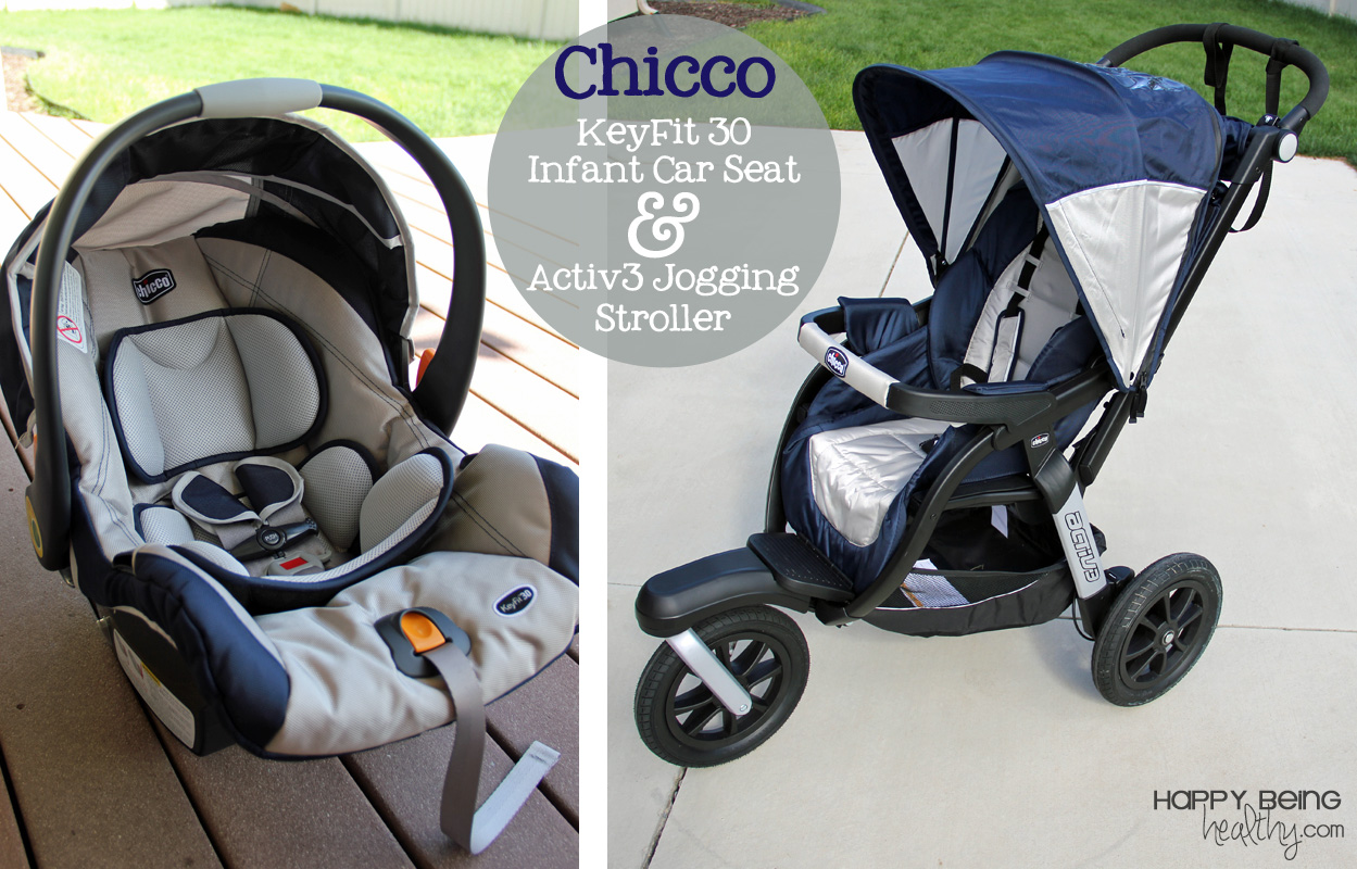 The Chicco Keyfit 30 Car Seat And Activ3 Jogging Stroller