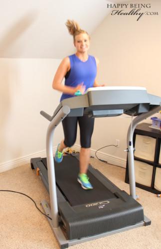 Me running on the treadmill