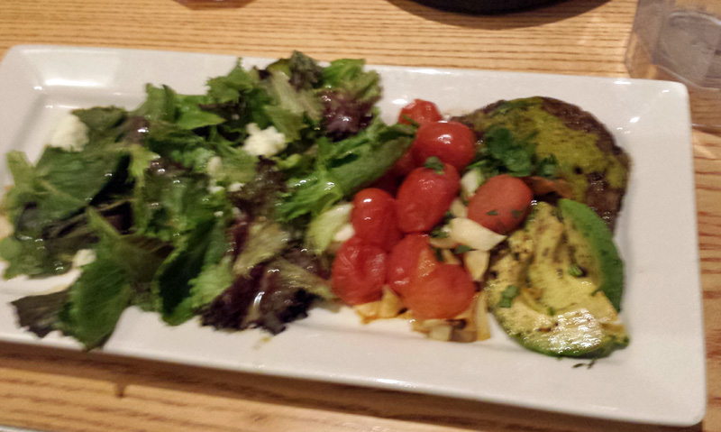 My steak, avocado, tomato, salad plate at Chili's