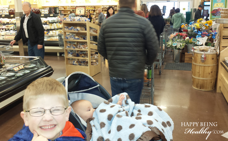 The kiddos and I at Sprouts