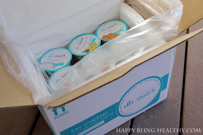 Package of Elli Quark cheese