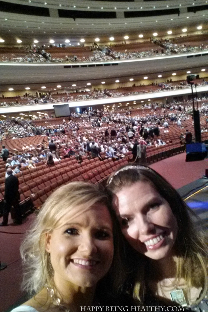 Laur and I at the Summer MoTab concert