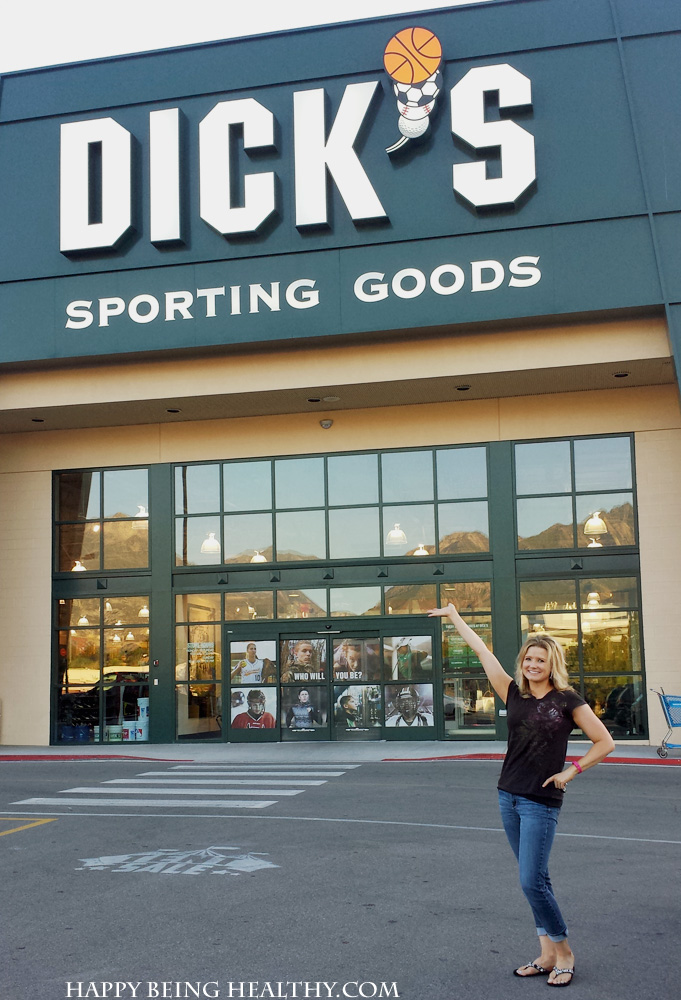 Me at Dicks Sporting Goods