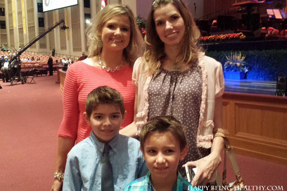 Me, my sissy and my nephews at the Summer MoTab concert