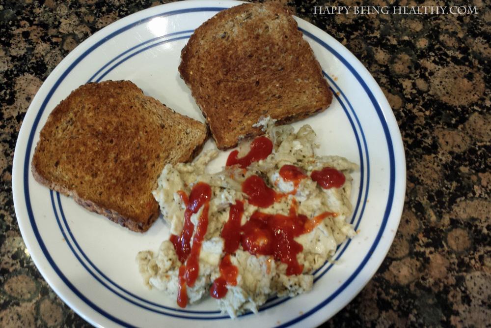 My Eggs with Ezekiel Toast