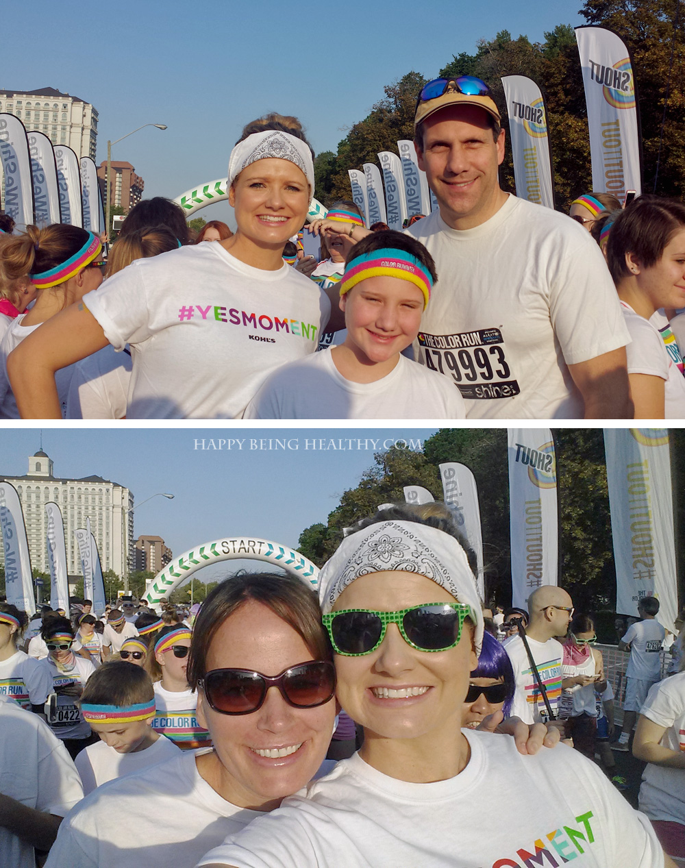 Getting Ready to run the Color Run