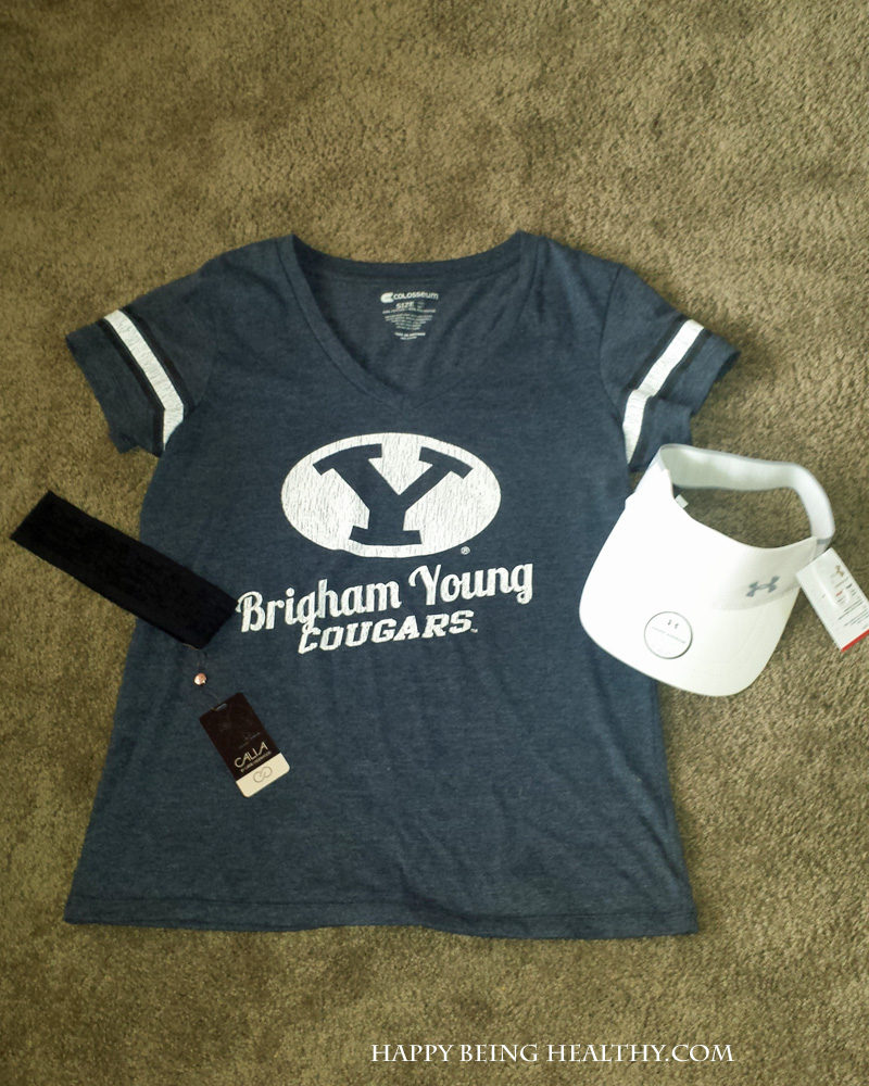 My BYU shirt, Calia Headband and U