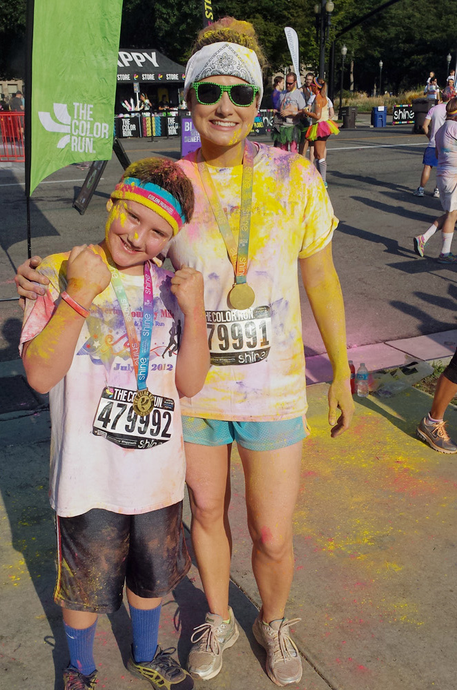 D and I after The Color Run