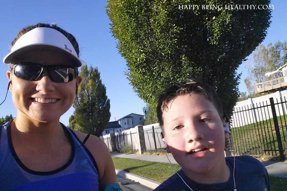 D and I running the Stake 5K
