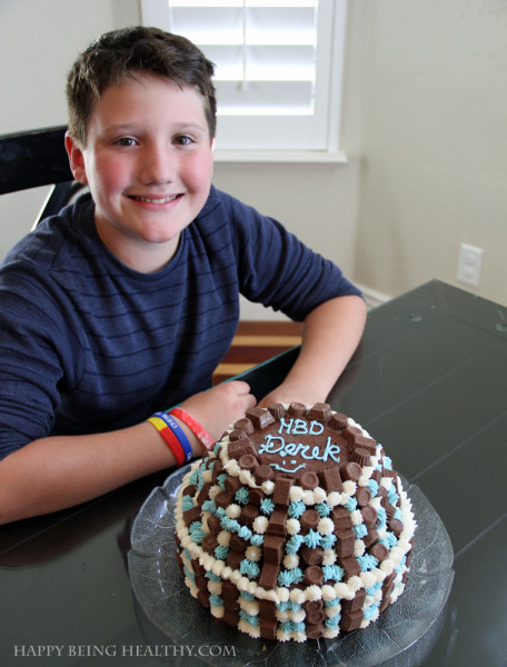 D with his 12th birthday cake