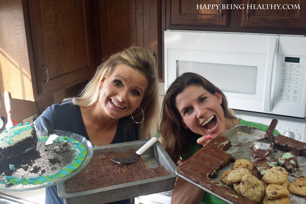 Holly and I with a bunch of treats!