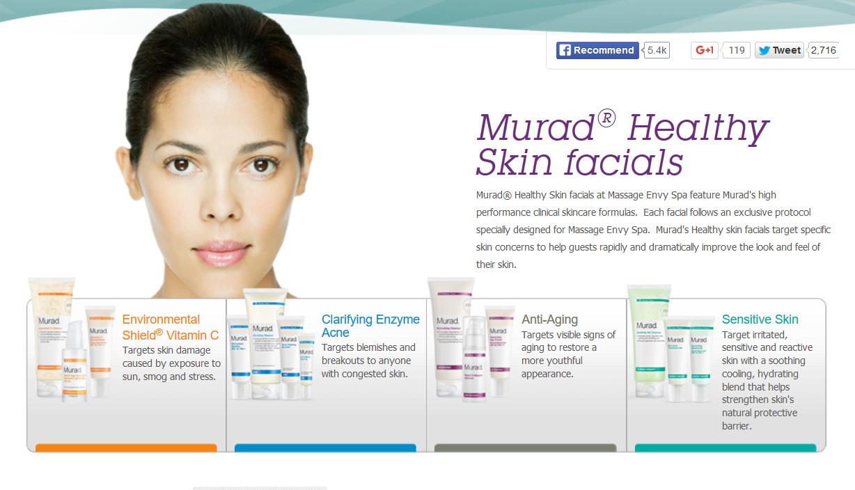 Massage Envy Facial information