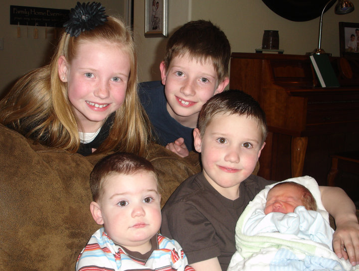 The kids with baby #5