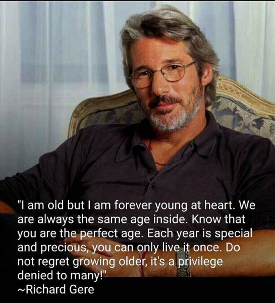 Richard Gere aging quote