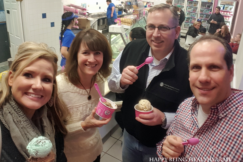 Baskin Robbins with our friends