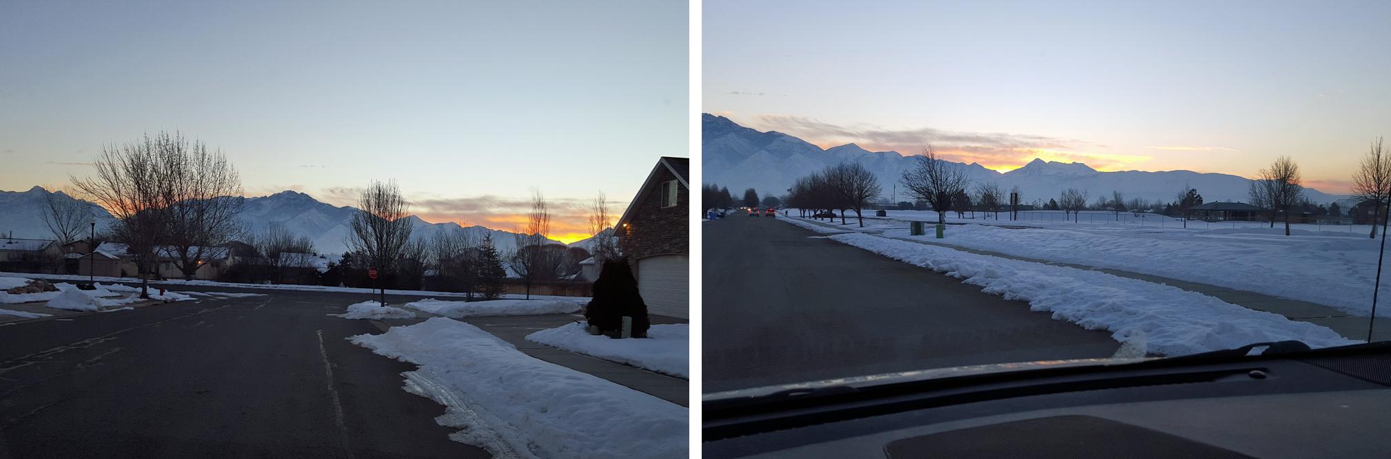 Beautiful sunrise in Utah