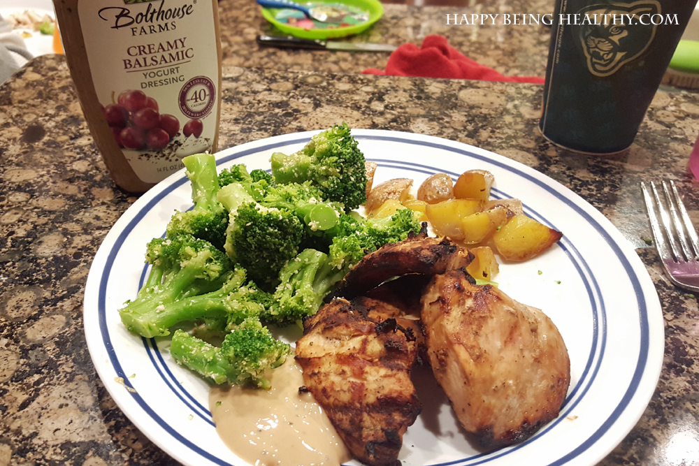 My chicken, potatoes and broccoli for dinner
