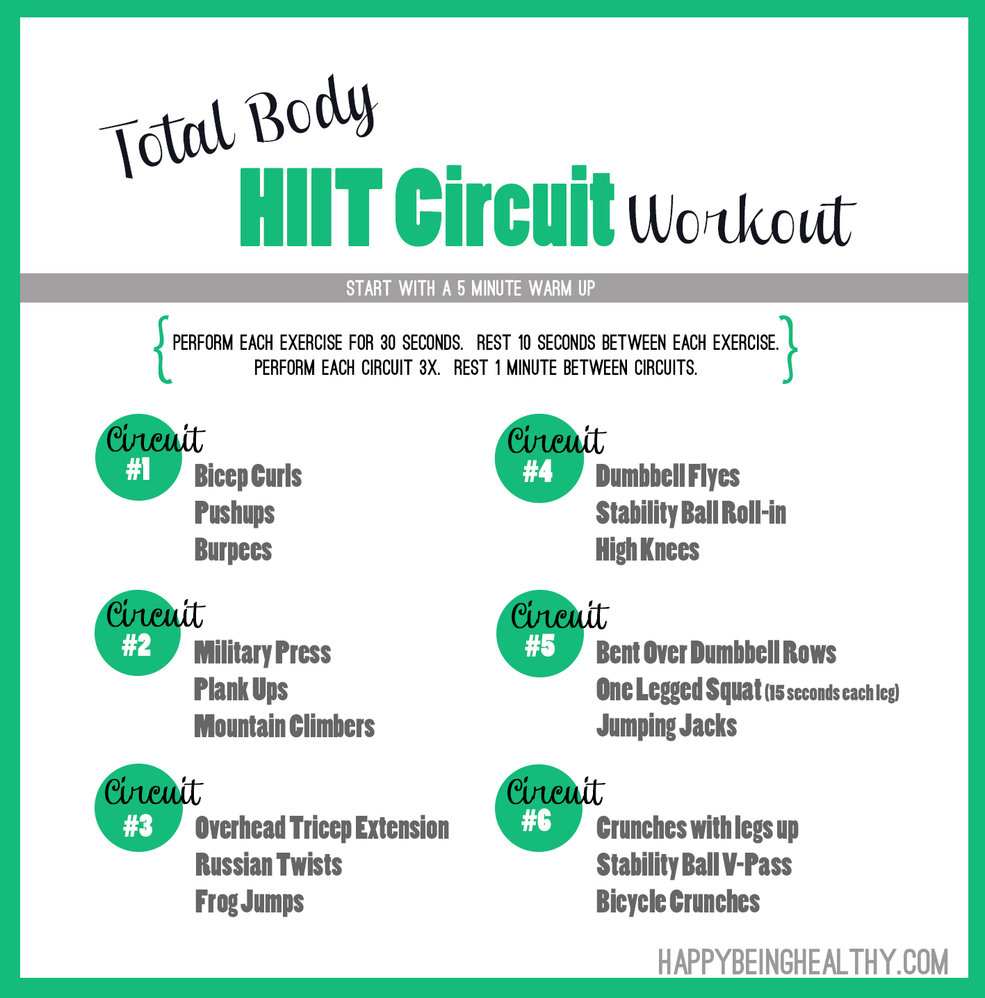 Total Body HIIT Circuit Workout