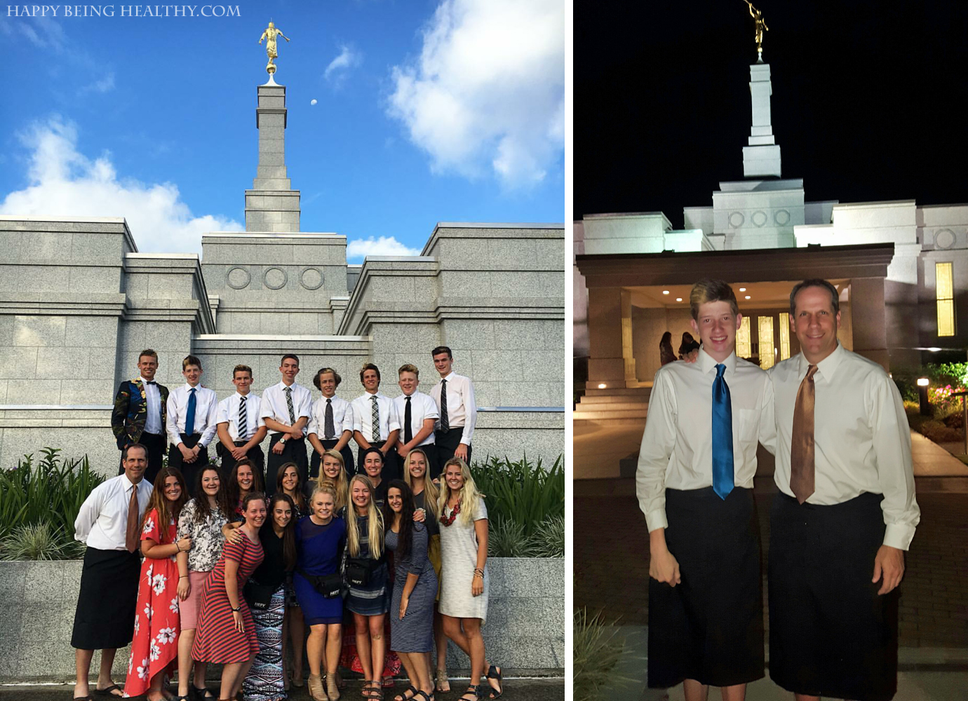 Kev and Ty at Temple in Fiji