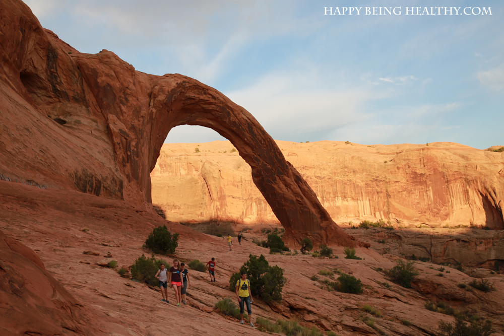 Hiking with the fam to Corona Arch